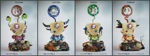 Sletters, Bweak, Chenuk, Zayawi by SquareFrogDesigns