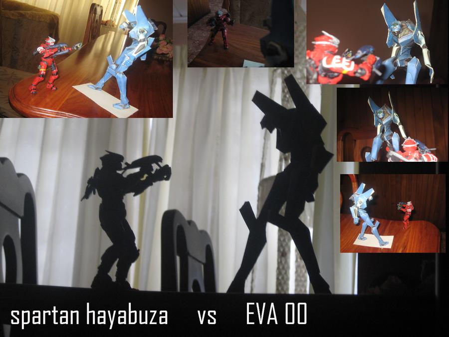spartan hayabuza vs eva00 by spartanREDEMPTIOM