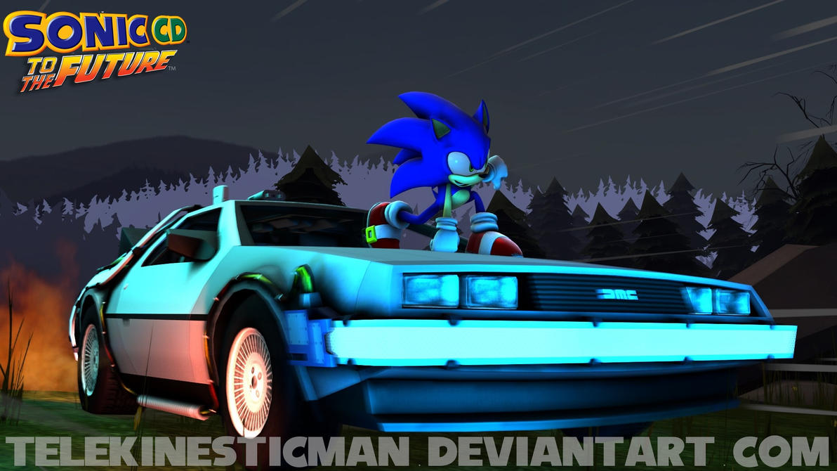 (SFM) Sonic CD Back To The Future Teaser Poster By