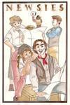 Newsies watercolor