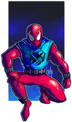 AT: Scarlet Spider by hanekdraws