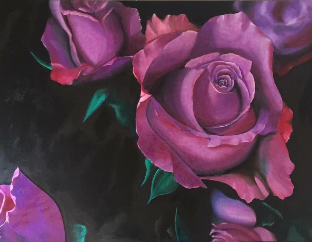 Roses in the dark  by Gkantinas