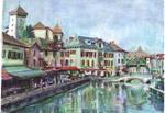oil pastel painting by qoiris