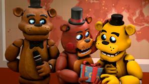 Freddy, Toy Freddy and Golden Freddy
