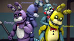Original, Unwithered, Toy Bonnie and Springbonnie