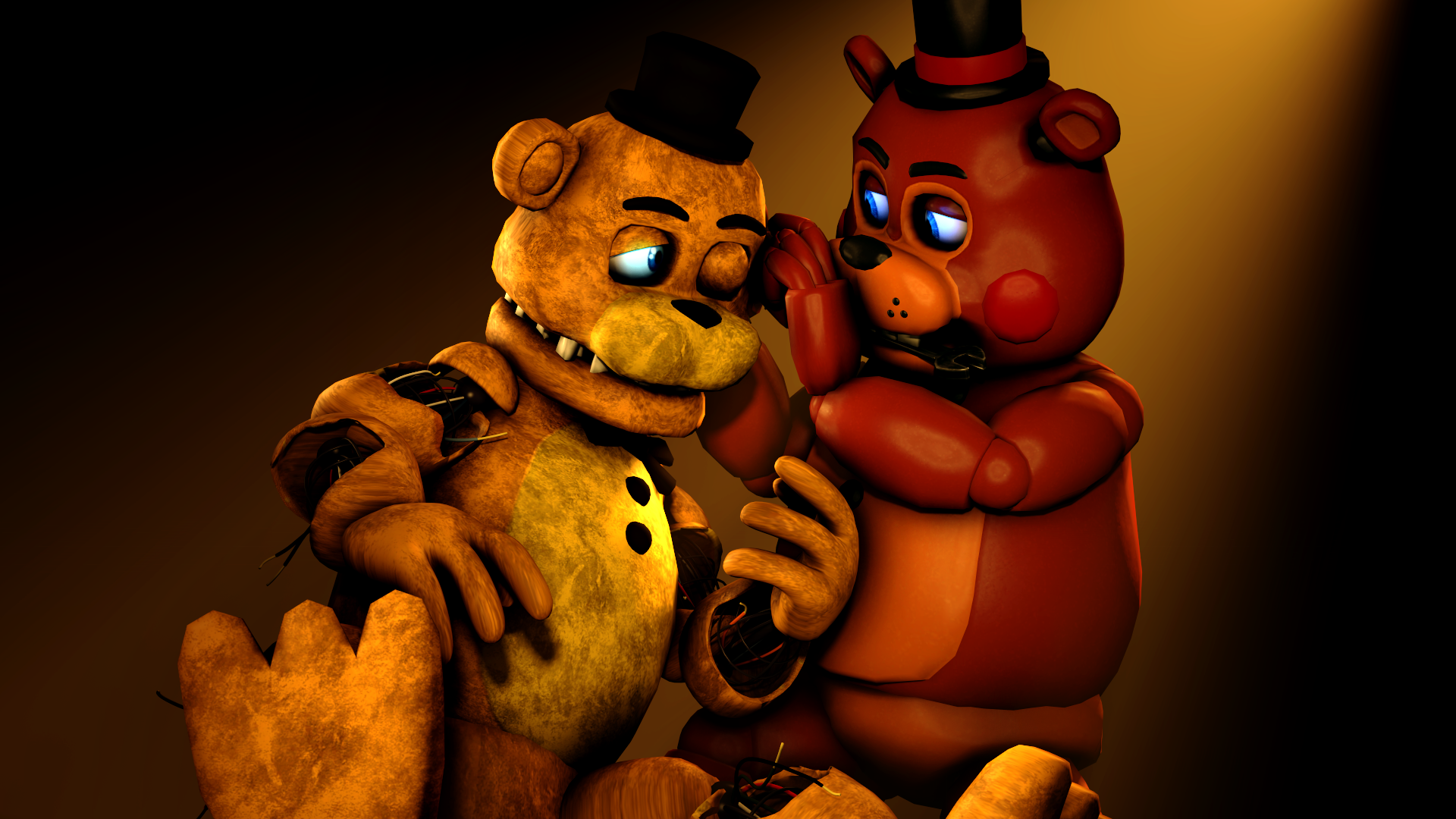 Old Freddy Toys : How we became brothers toy freddy and goldie by talondang