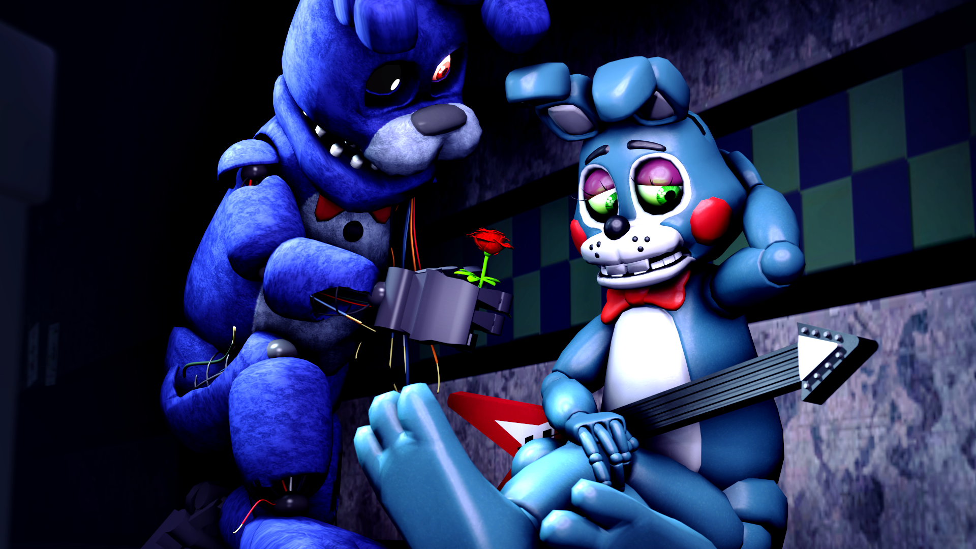 A rose may make you happier-Bonnie and Toy Bonnie by