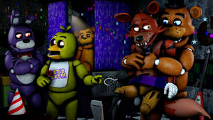 You can't get away now Foxy!-Freddy