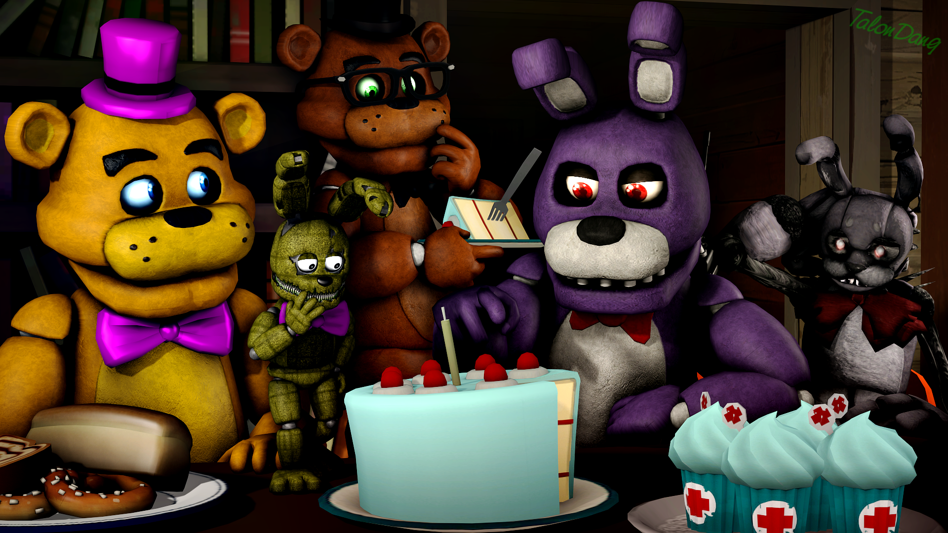 Five Nights At Freddys Backgrounds Cakes