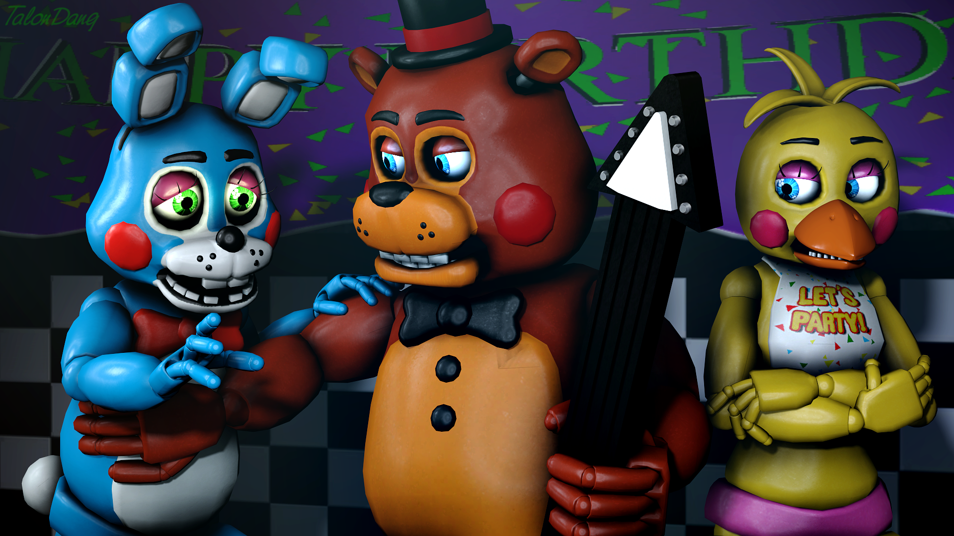 Old Freddy Toys : Your job is done bonnie toy freddy by talondang on
