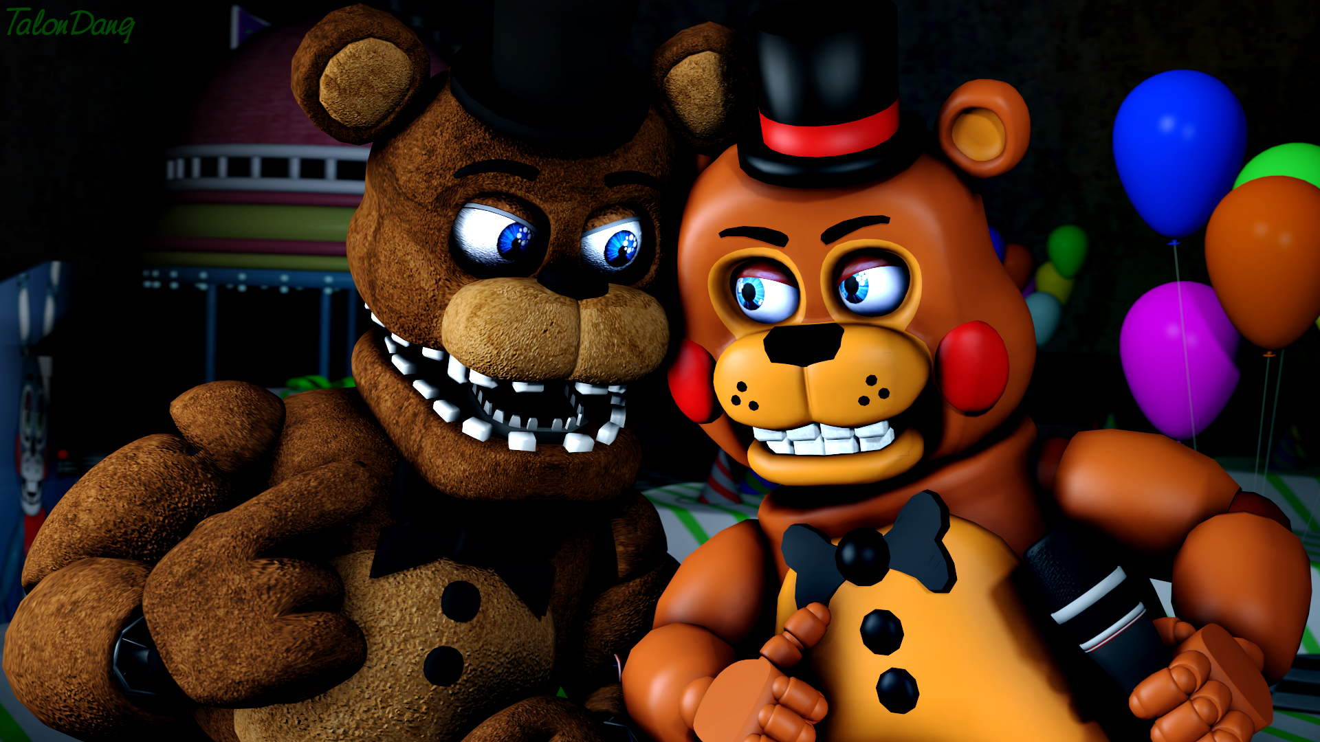 Old Freddy Toys : The stage is mine freddy and toy by talondang on