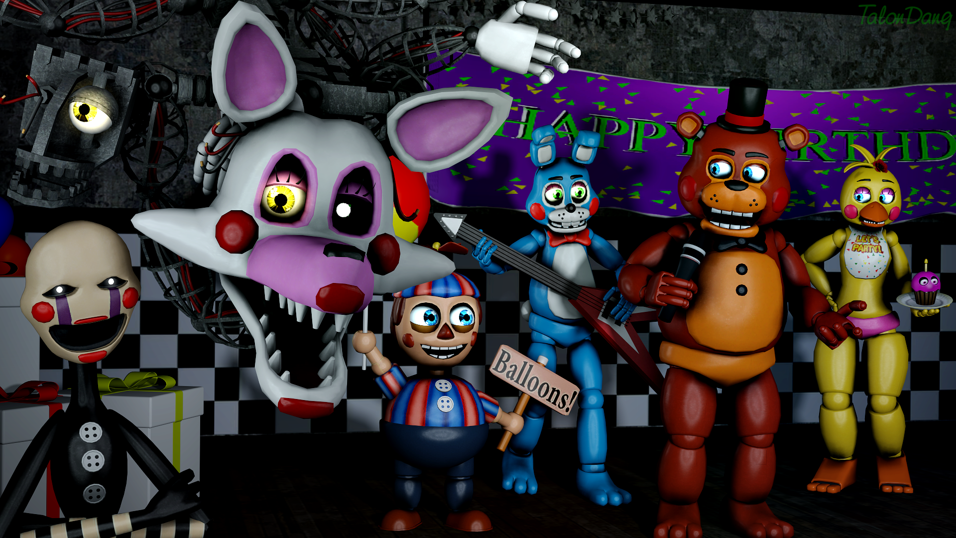 Say Hello To My Family Mangle By Talondang On Deviantart