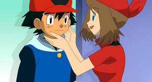 [Fotomontaje] Advancerdshipping [Pokemon]