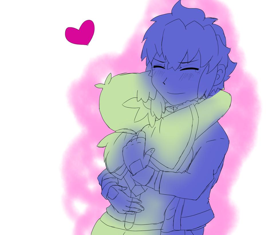 Hug to Alain! - Marissonshipping by Nathy-Kaze-Neko