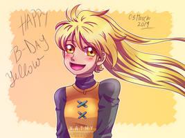 Happy B-Day  Yellow by Nathy-Marisson