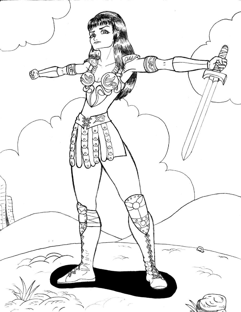 xena warrior princess by GarbageDraw