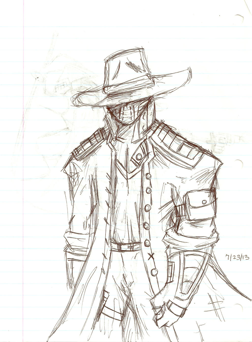 Cowboy sketch drawings - photo#5