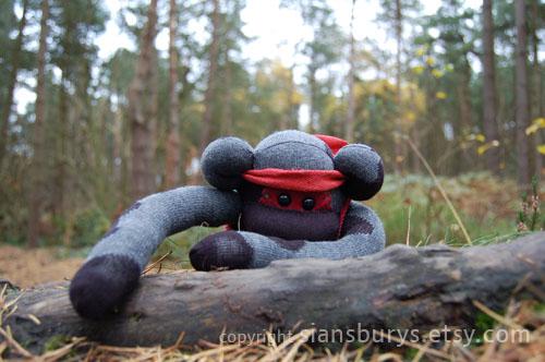 Sock Monkey - Jimbo by UKEtsy