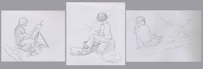 -Plein Air Figure Drawing-