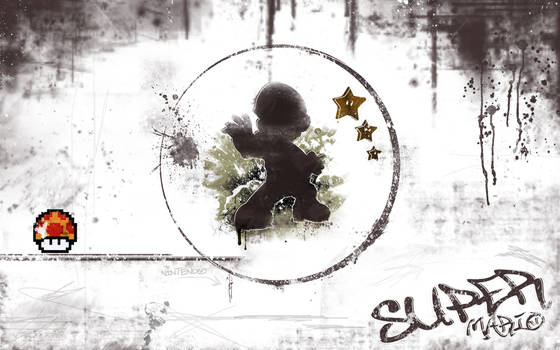 Super Mario WP - White Grunge by Desidus