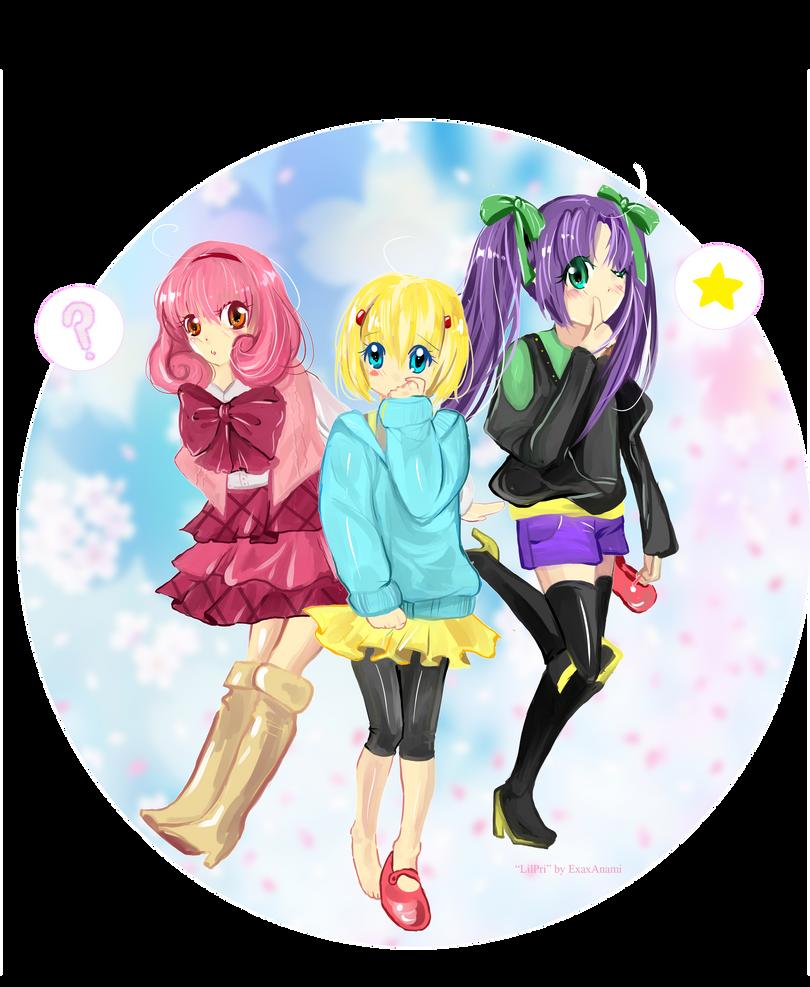 Happy Trio Lilpri by exaxAnami