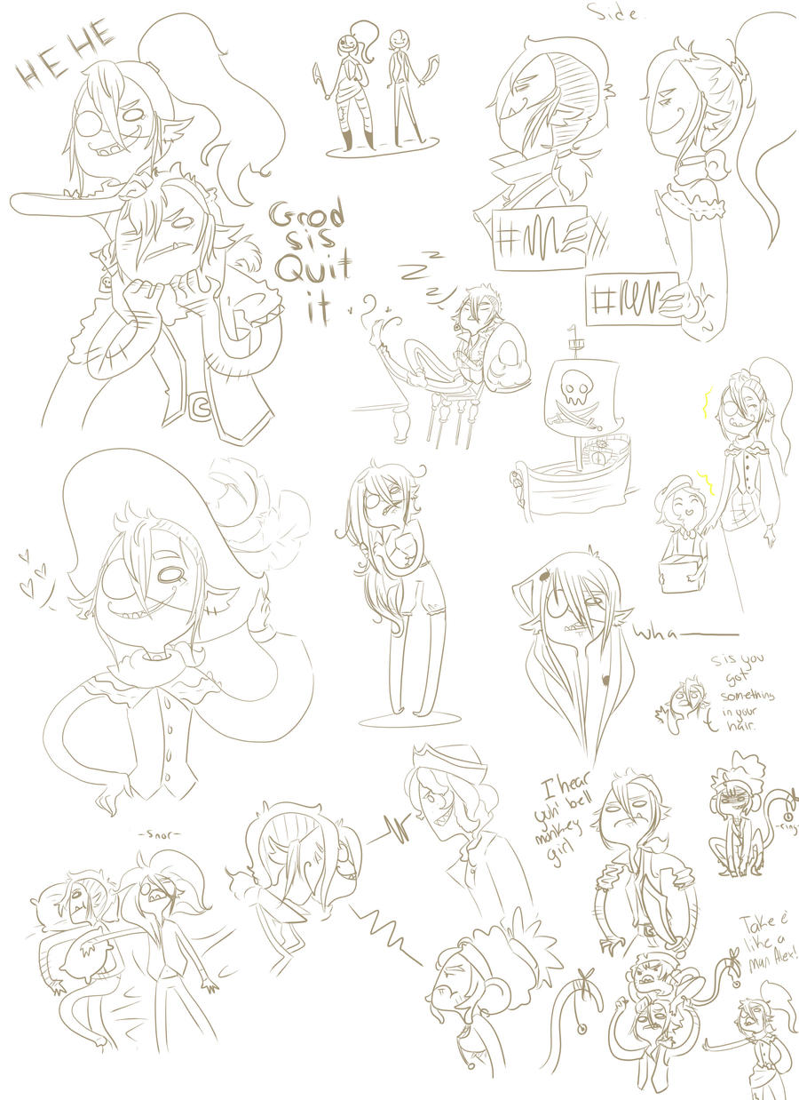Doodle dump of pirates by Ask-ManyMask