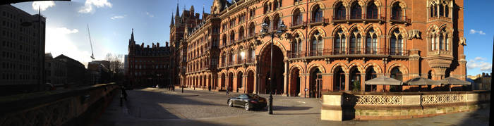 St. Pancras Station iPhone 4S Panorama by RupertWarries