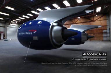 Alias Jet Engine Model by RupertWarries