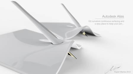 'Lift' Pen Holder by RupertWarries