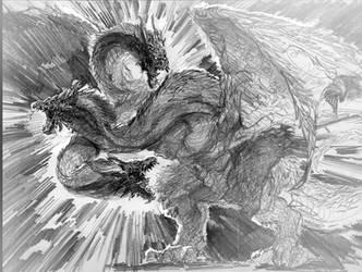Mighty KING GHIDORAH concept by Gabezilla2015