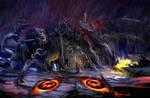 Godzilla Battles Liquid Hedorah!
