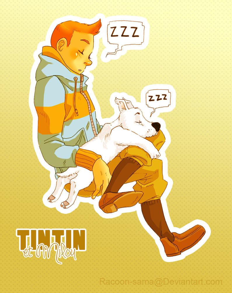 Tintin et Milou - sleepy by Panfake