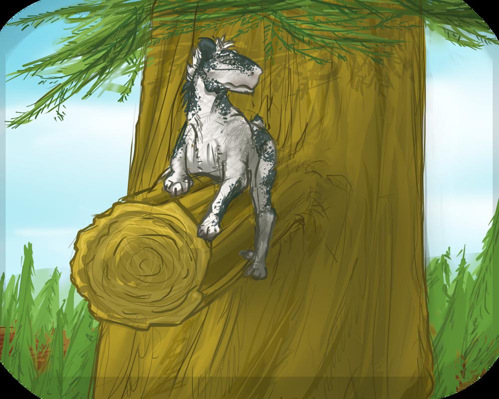 LUKE CLIMBED A TREE by Ashadasha