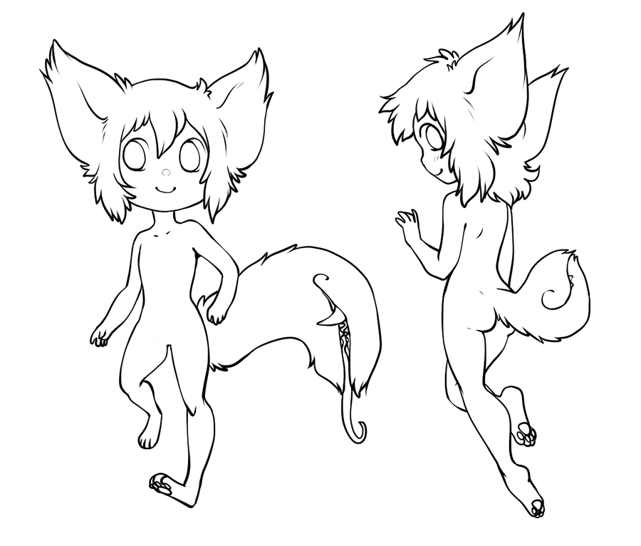 The gallery for --> Chibi Dog Lineart
