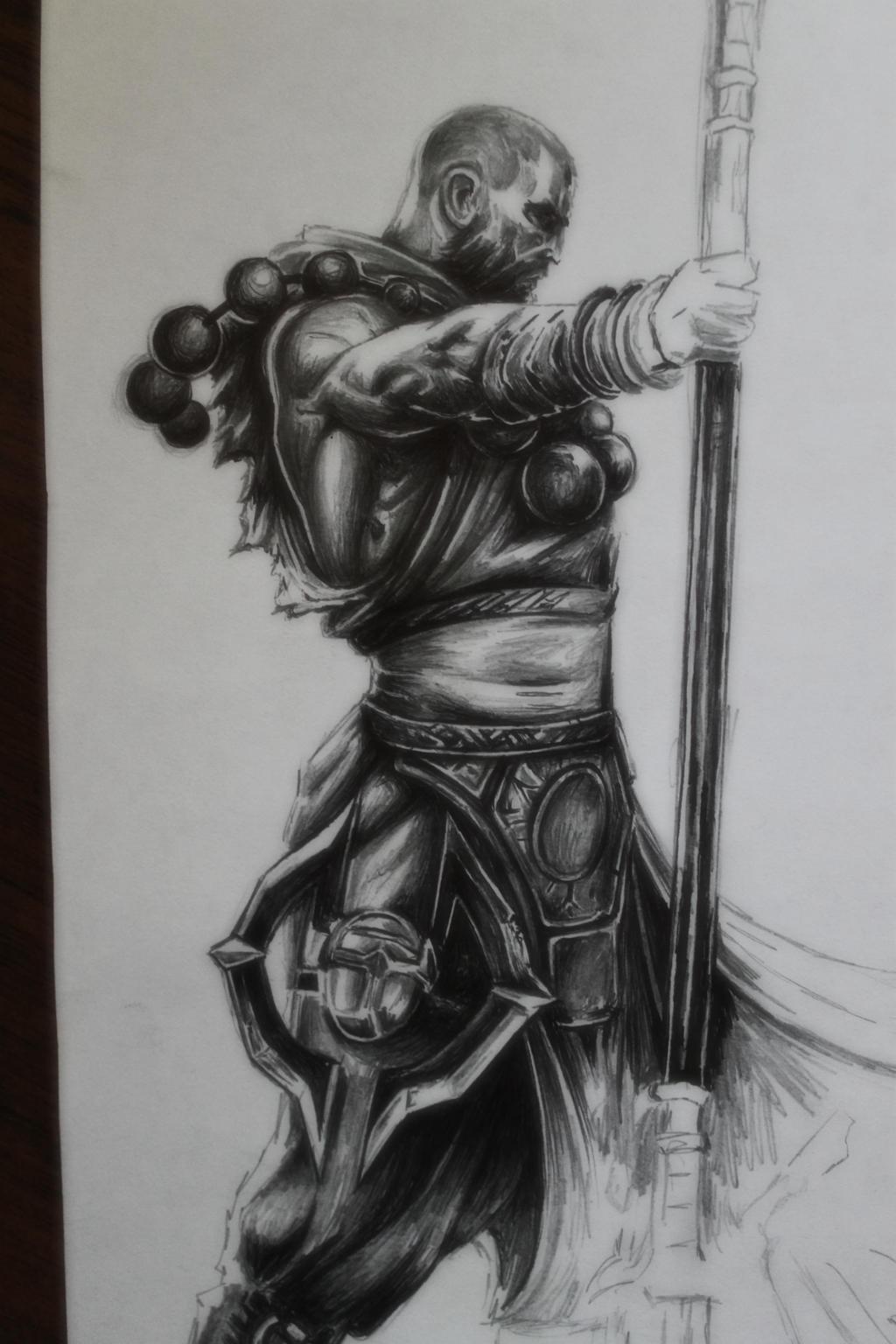 diablo 3 monk drawing by tolleam on deviantart