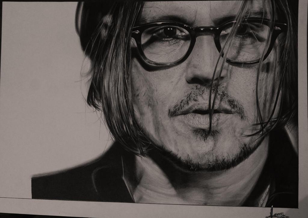 Johnny Depp (Hyperrealism 60/h) by TolleaM