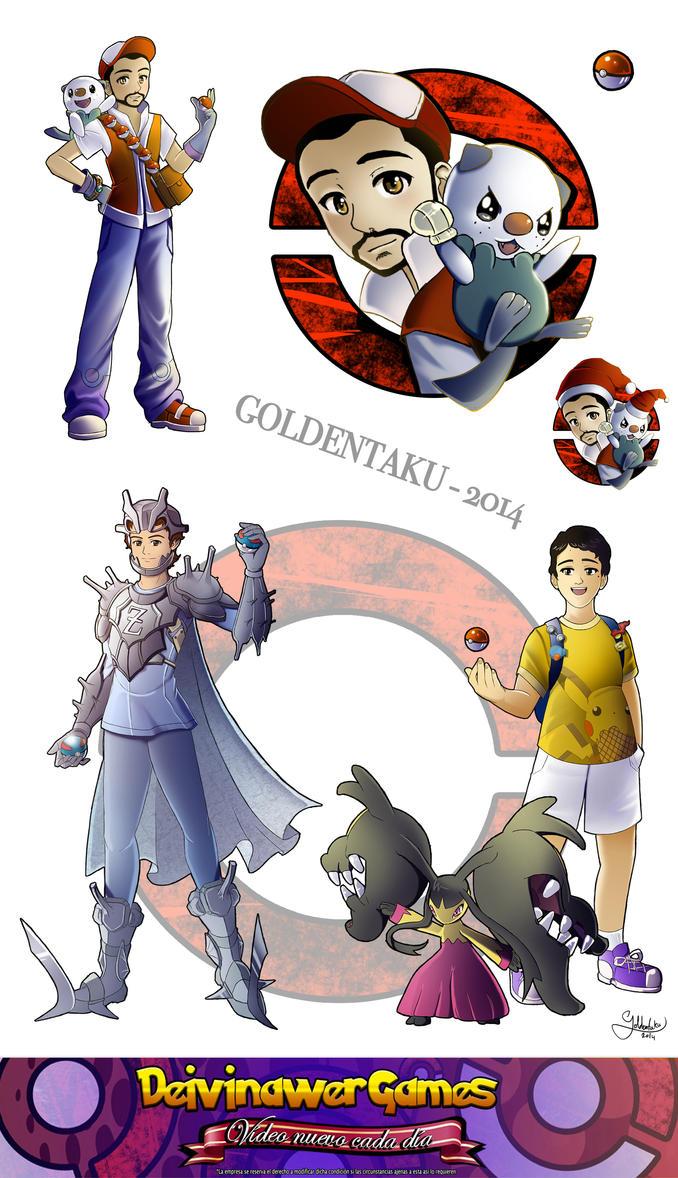 COMMISSION - Pokemon Trainers by goldentaku