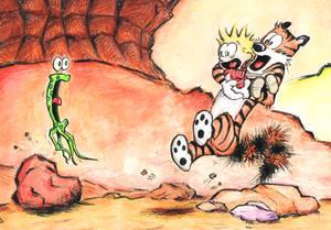 Calvin and Hobbes meet Martian