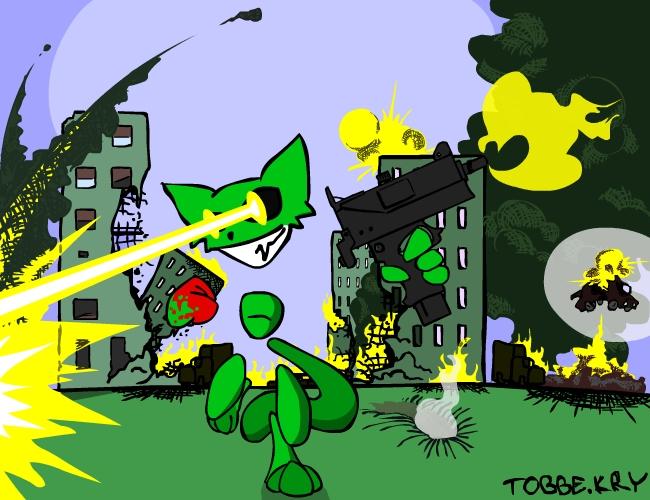 Kitten Mayhem by TobbeKre