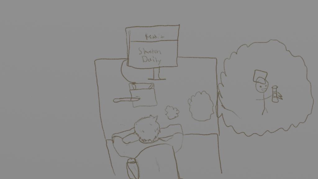 Boredom (Sketch) by lachocomoose