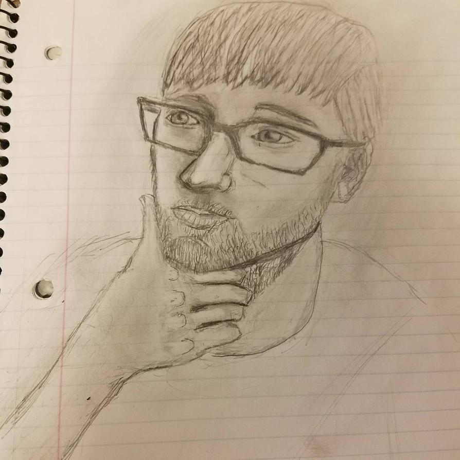 self portrait shaded  by lachocomoose