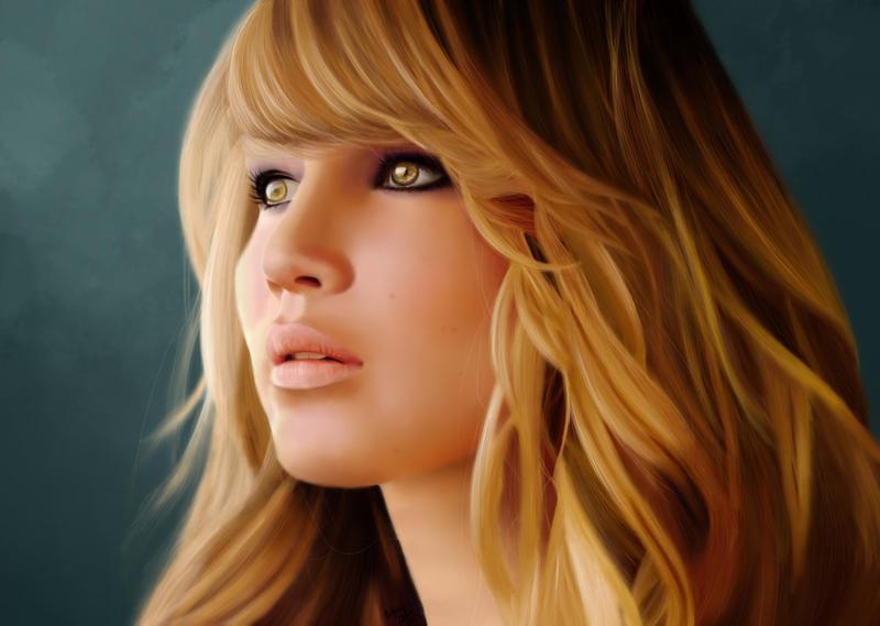 Jennifer Lawrence by Oatsprite