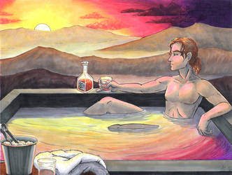 Sunset and Cocktails by Pointy-Eared-Fiend