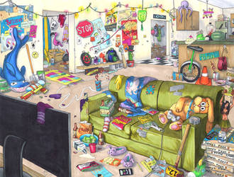 Carlos's Apartment by Pointy-Eared-Fiend