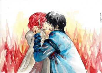 Yona and Hak - Kiss by hetappine