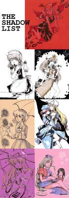 Touhou: Shadow's list