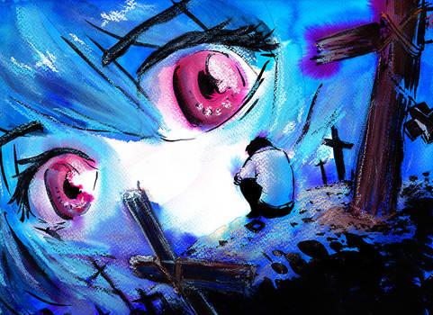 Evangelion: Watching you.