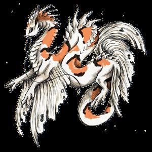 Calico Koi Dragon by Feyenna