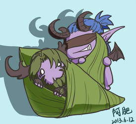 WOW ILLIDAN and  malfurion by firhug