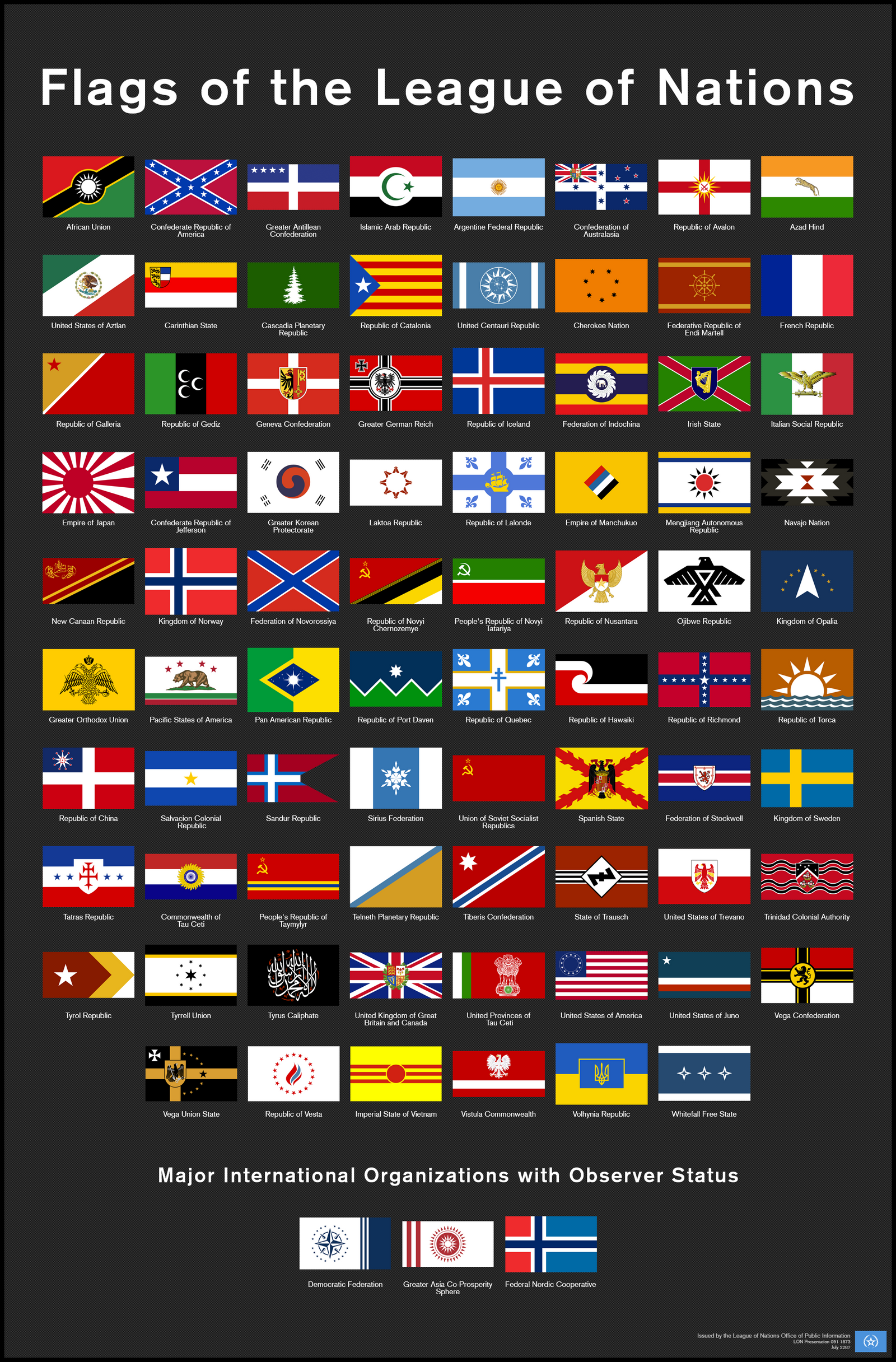 Flags of the League of Nations c.2287 by DawnofVictory2289 ...